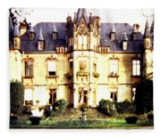 French Chateau 1955 Fleece Blanket