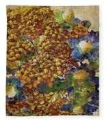 French Country Print Fleece Blanket
