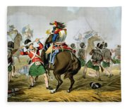 French Cuirassiers At The Battle Fleece Blanket