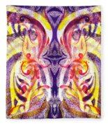 French Curve Abstract Movement V Magic Butterfly  Fleece Blanket