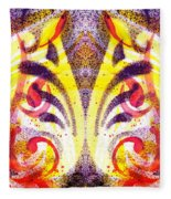 French Curve Abstract Movement Vi Mystic Flower Fleece Blanket