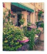 French Floral Shop Fleece Blanket