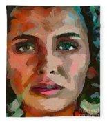 French Gypsy Girl Fleece Blanket