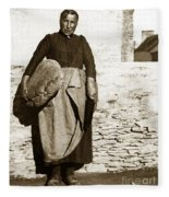 French Lady With A Very Large Bread France 1900 Fleece Blanket