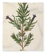 French Lavender Fleece Blanket
