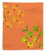 French Lillies Abstract Fleece Blanket