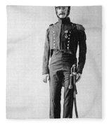 French Officer, 1814 Fleece Blanket