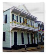 French Quarter Architecture Fleece Blanket