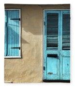 French Quarter Blues Fleece Blanket