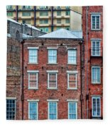 French Quarter Facades New Orleans Fleece Blanket