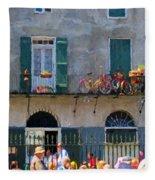 French Quarter Stroll 2 - New Orleans Fleece Blanket