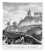 French Revolution Paris Fleece Blanket