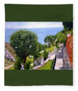 French Riviera Fleece Blanket