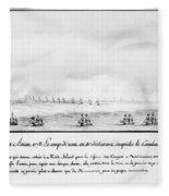 French Squadron, 1778 Fleece Blanket
