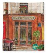 French Storefront 1 Fleece Blanket