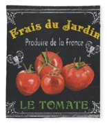 French Vegetables 1 Fleece Blanket