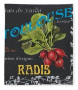 French Veggie Labels 3 Fleece Blanket