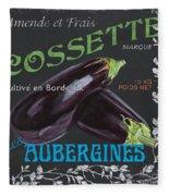 French Veggie Labels 4 Fleece Blanket