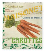 French Veggie Sign 2 Fleece Blanket