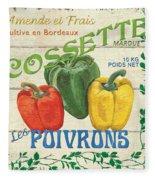 French Veggie Sign 4 Fleece Blanket
