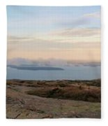 Frenchmans Bay From Cadillac Mountain Fleece Blanket