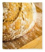 Fresh Baked Loaf Of Artisan Bread Fleece Blanket