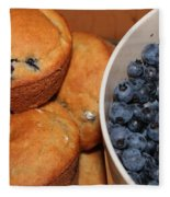 Fresh Blueberries And Muffins Fleece Blanket