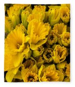Fresh Daffodils  Fleece Blanket