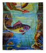 Fresh Fish Fleece Blanket