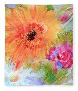 Fresh Flowers Fleece Blanket