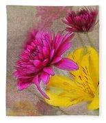 Fresh Flowers Painted Fleece Blanket