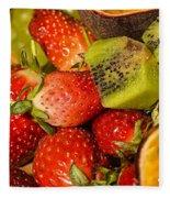 Fresh Fruit Salad Fleece Blanket