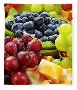 Fresh Fruits And Cheese Fleece Blanket