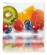Fresh Fruits Fleece Blanket