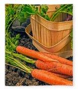 Fresh Garden Vegetables Fleece Blanket