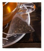 Fresh Glass Cup Of Tea Fleece Blanket
