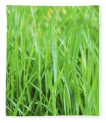 Fresh Grass Fleece Blanket