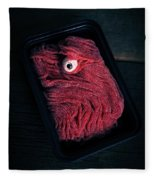 Fresh Ground Zombie Meat - Its What's For Dinner Fleece Blanket