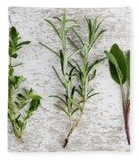 Fresh Herbs Fleece Blanket by Nailia Schwarz