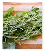 Fresh Herbs Fleece Blanket