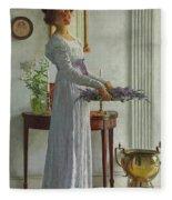Fresh Lavender Fleece Blanket