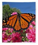 Fresh Monarch Butterfly Fleece Blanket