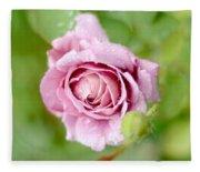 Fresh Morning Rose Fleece Blanket