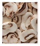 Fresh Mushrooms Fleece Blanket