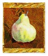 Fresh N Happy Pear Decorative Collage Fleece Blanket
