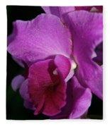 Fresh Orchid Fleece Blanket