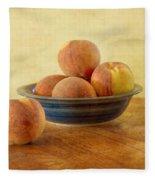 Fresh Peaches Fleece Blanket