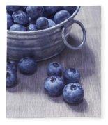 Fresh Picked Blueberries With Vintage Feel Fleece Blanket
