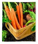 Fresh Picked Healthy Garden Vegetables Fleece Blanket