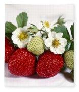 Gardenfresh Strawberries Fleece Blanket